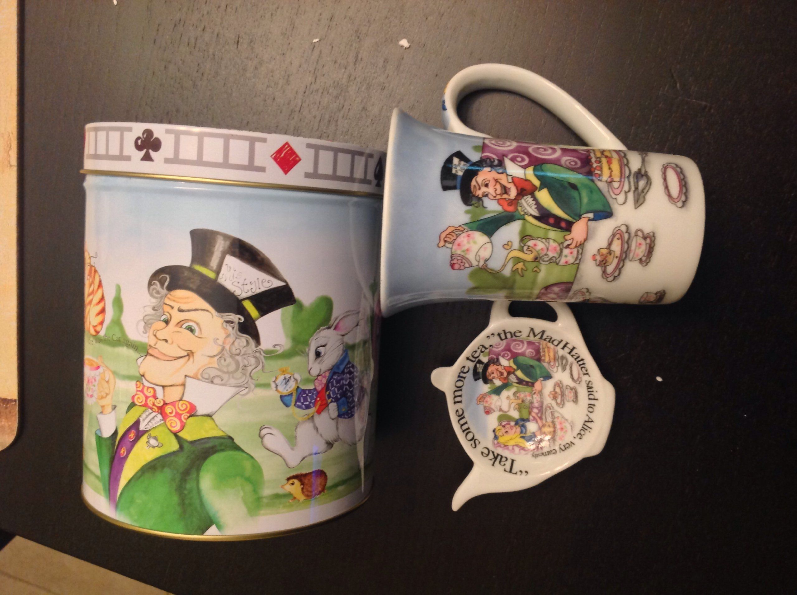 Amazon.com: Paul Cardew Alice in Wonderland Mug, Coaster & Tin: Home & Kitchen