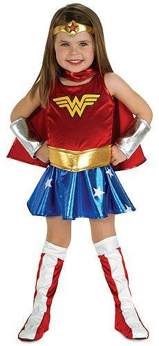 Wonder Woman DC Comics Supereroe Ragazze Costume Bambini Bambini Costume Cosplay