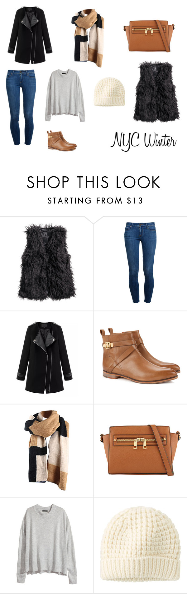 """""""NYC Winter"""" by iwanttotravel ❤ liked on Polyvore featuring H&M, Paige Denim, Chicnova Fashion, Ted Baker, ALDO and Uniqlo"""