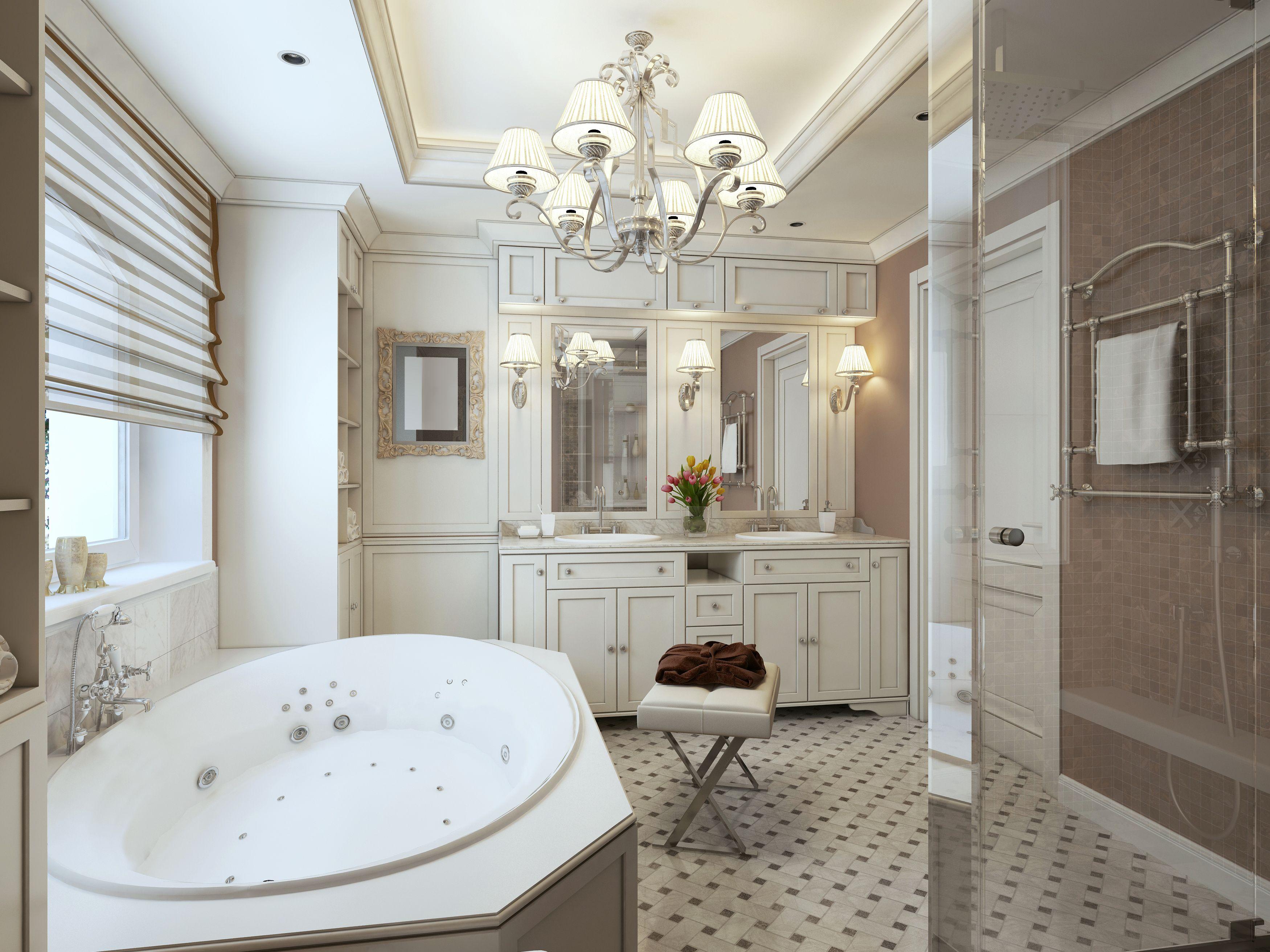 Explore White Bathroom Furniture, Big Bathtub, And More