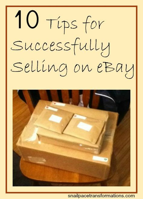 10 Tips For Successfully Selling Your Items On Ebay Ebay Selling Tips Ebay Hacks Ebay Business