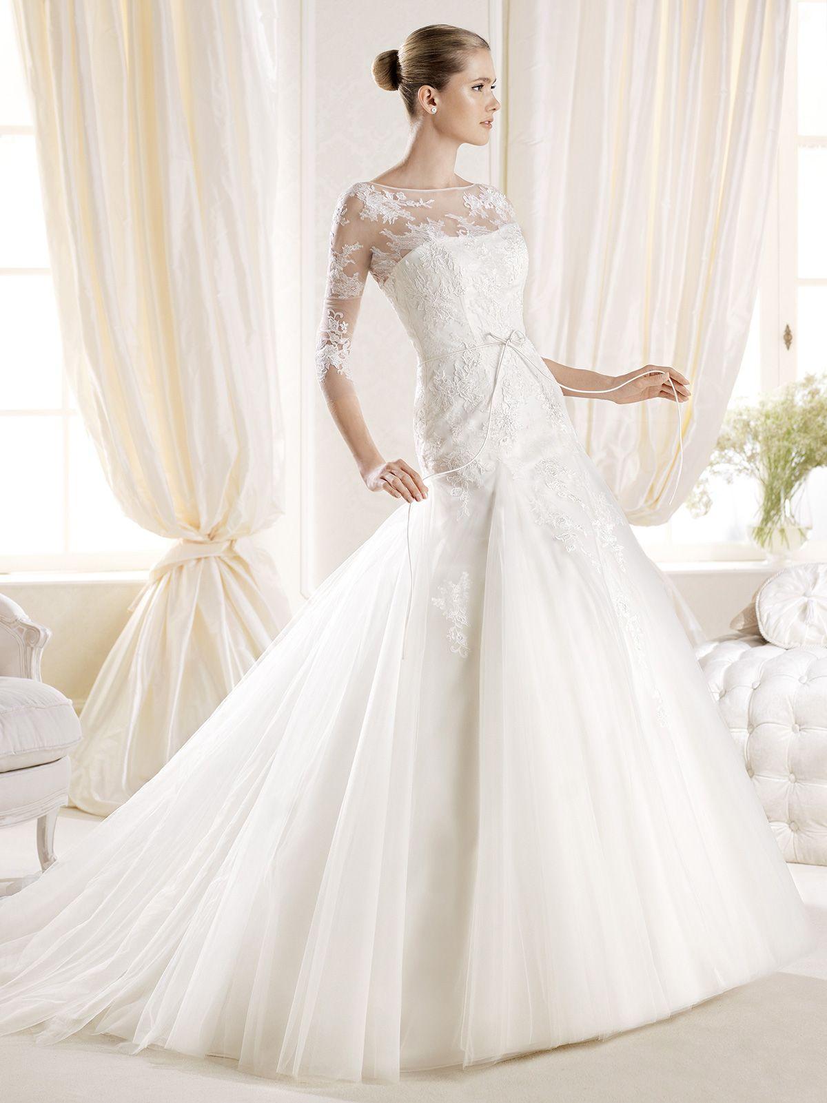 Three Quarter Sleeve Wedding Dress | WEDDING DRESS TREND | Pinterest ...