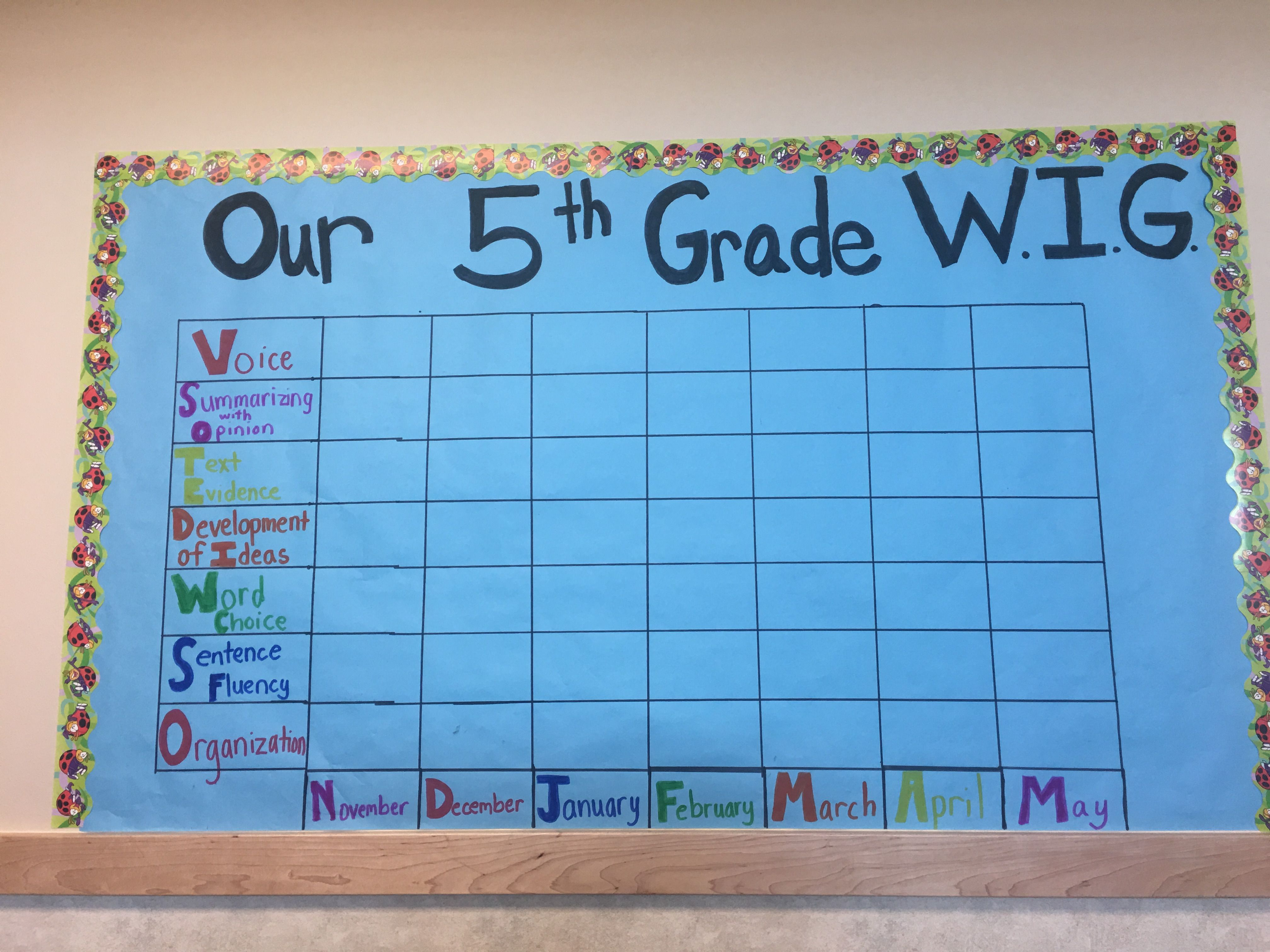 Wildly Important Goal 5th Grade Everything Pinterest Goal