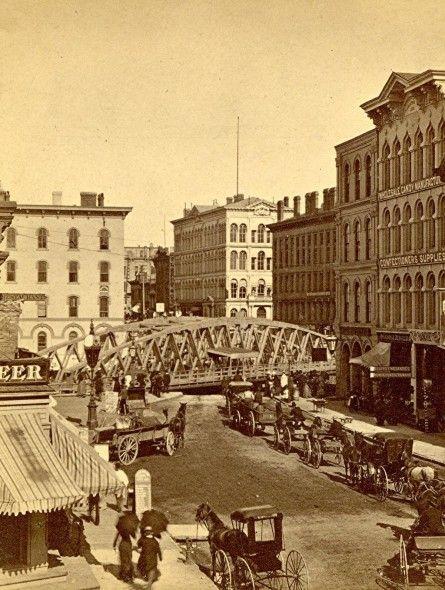Yesterday S Milwaukee Wisconsin Avenue Bridge About 1880