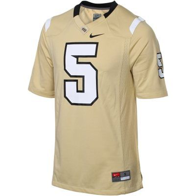 new concept bfbbb 9d449 Nike UCF Knights #5 Game Football Jersey - Gold | Football ...