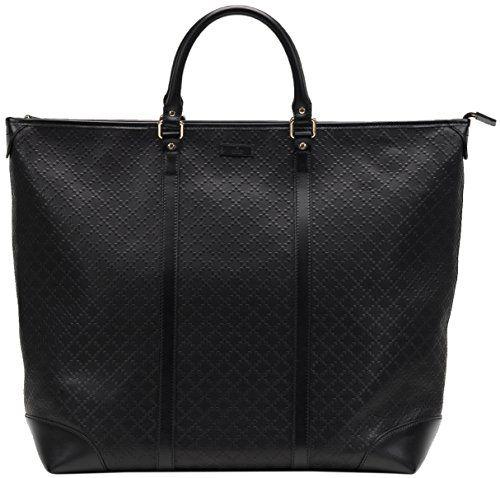 21926de56e3 Gucci Black GG Diamante Leather Top Handle Large Tote Bag https   sakosj.