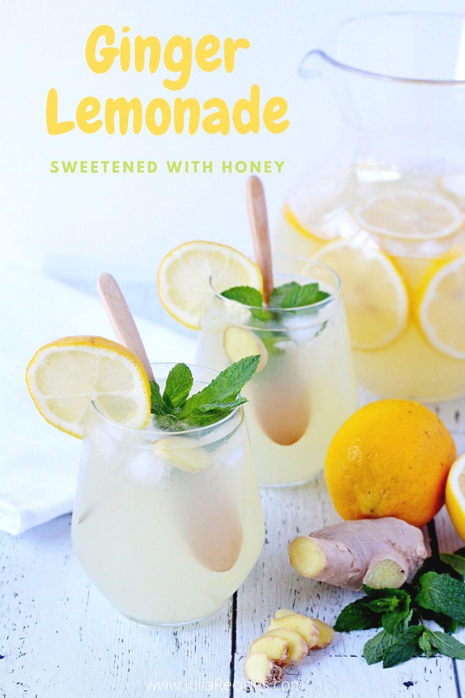 Ginger Lemonade Video Recipe Recipe Ginger Lemonade Ginger Drink Lemonade