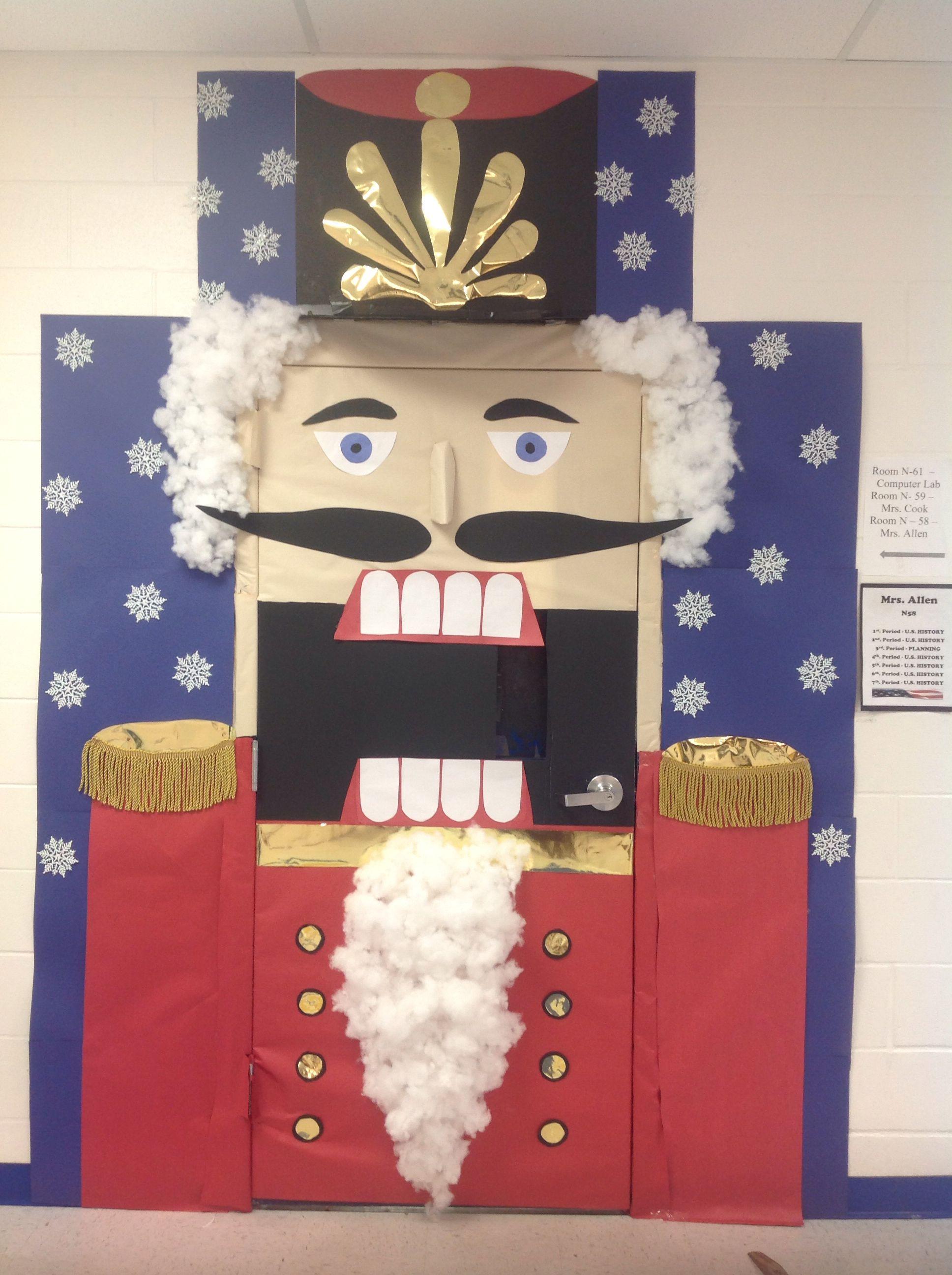Classroom Door Decoration For Christmas : Nutcracker classroom door decor for christmas later