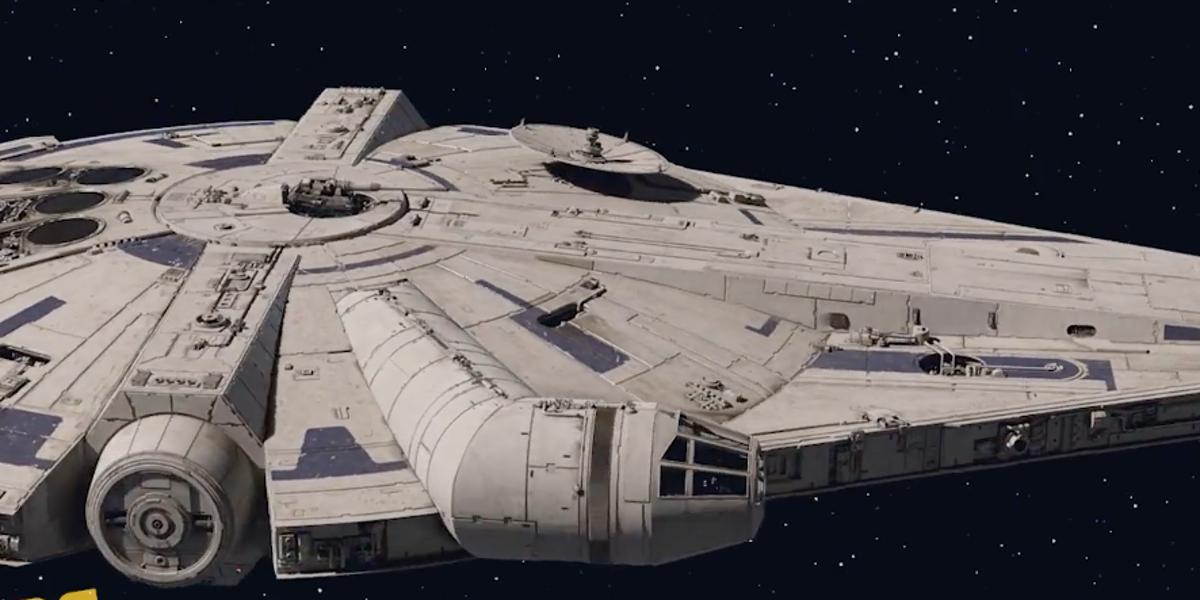 New Design Of Millenium Falcon In Solo Explained Star Wars Canon Star Wars Millennium Falcon