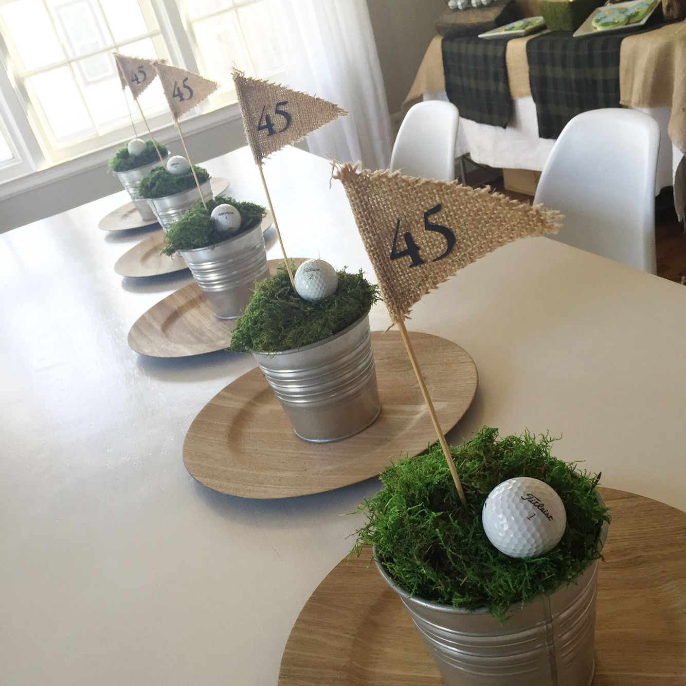 Golf centerpieces a retirement party pinterest