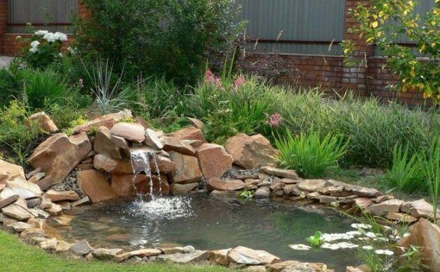 garten wasserfall selber bauen gartenideen natur | gardenprojects,