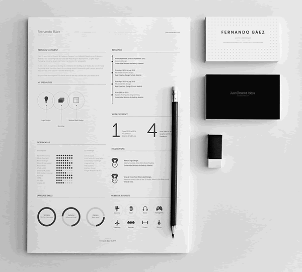 Beautiful  Free Resume Templates For Designers  Template