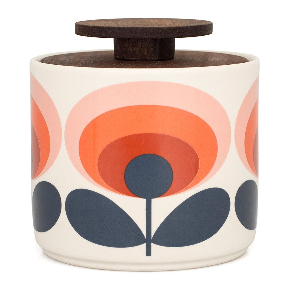 Discover the Orla Kiely '70s Flower Storage Jar - Red at Amara