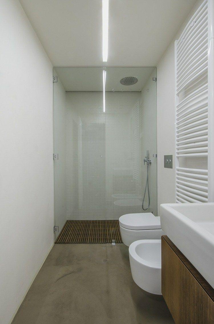Die Dusche mit einem Holzgitter für den Boden ausstatten | Bad ... | {Bodengleiche dusche design 79}