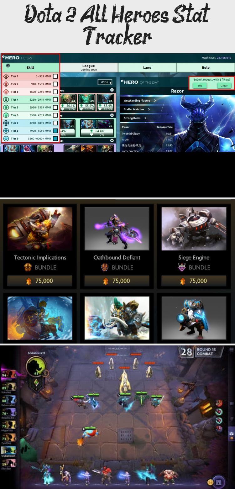 Dota 2 All Heroes Stat Tracker In 2020 All Hero Dota 2 Steam