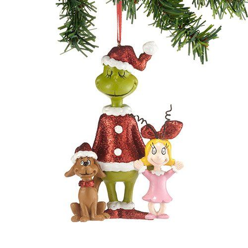 department 56 dr seuss the grinch cindy max christmas https