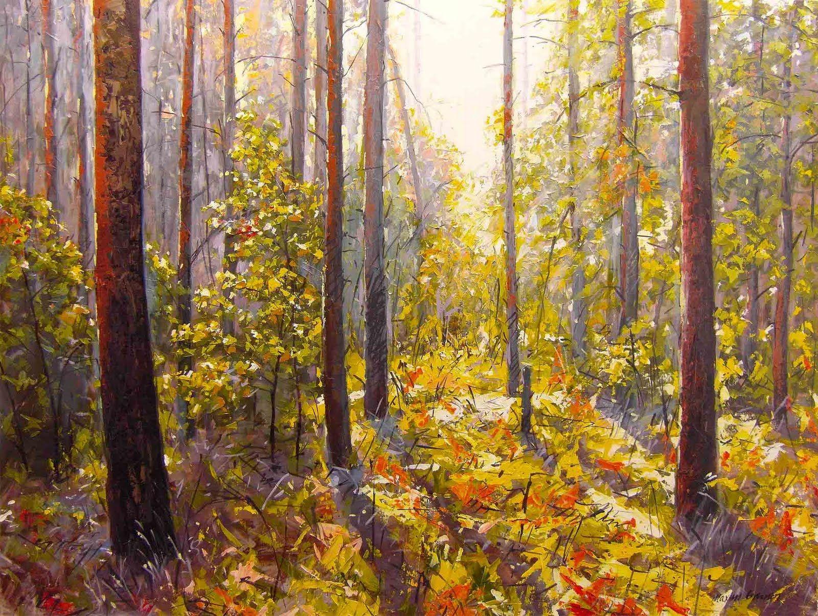 Acrylic Paintings On Canvas Landscape Sunshine, 24