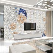 3d crystal photo wallpaper customized 3d crystal wallpaper flower living room 3d # 3Dwal ...#3dwal #crystal #customized #flower #living #photo #room #wallpaper