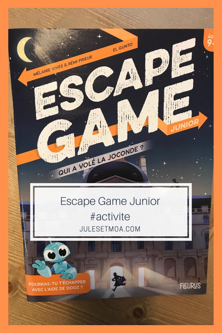 Le Cahier Escape Game Junior Qui A Vole La Joconde La Joconde Escape Game Enfant Junior