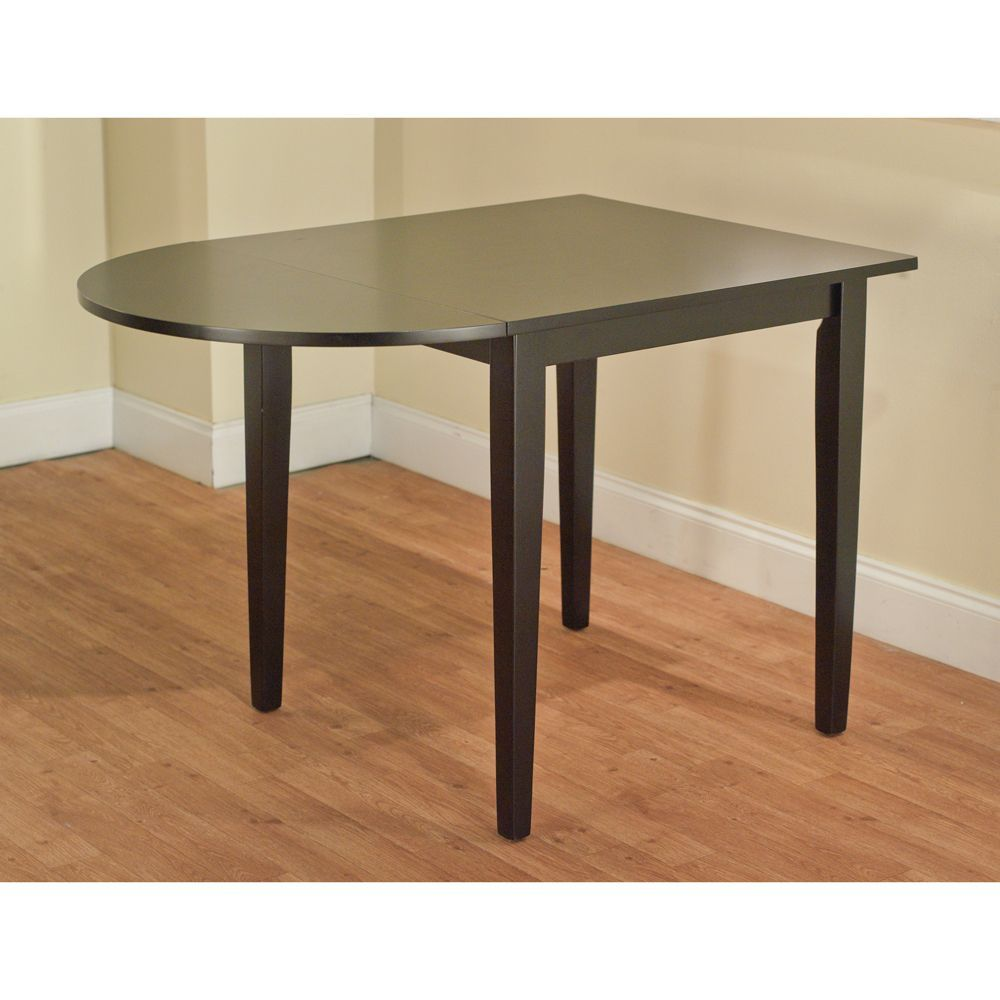 Dining Room Table With Drop Down Sides Inspiration Country Cottage Black Drop Leaf Dining Table  Overstock Review