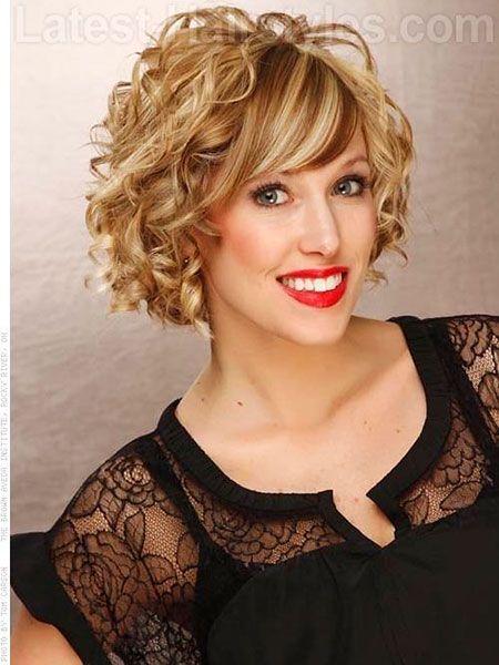 Mas De 20 Fotos De Peinados Rizados Cortos Con Flequillo Peinados - Peinados-rizados-con-flequillo