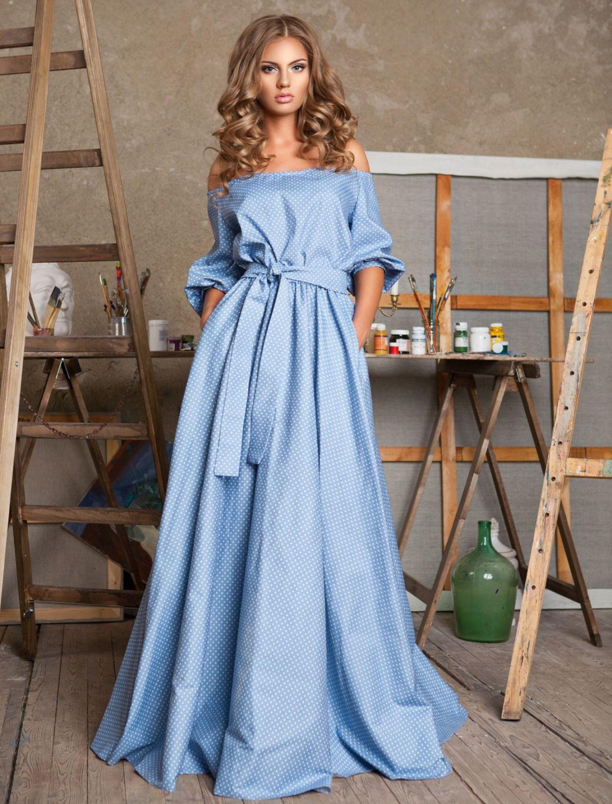 0fbbaa787b0 Платье-крестьянка (48 фото)  с открытыми плечами