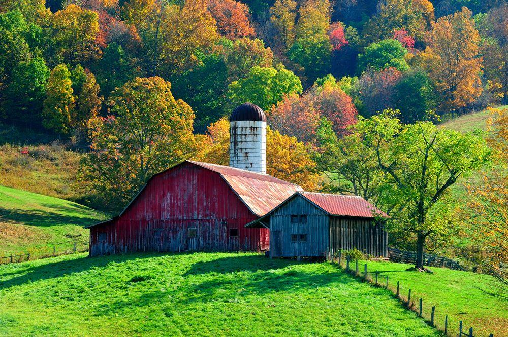 West Virginia.   Watercolor Farms   Farm barn, Old barns ...