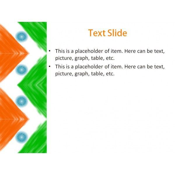 Indian Flag Powerpoint Template  Background For Presentation Free