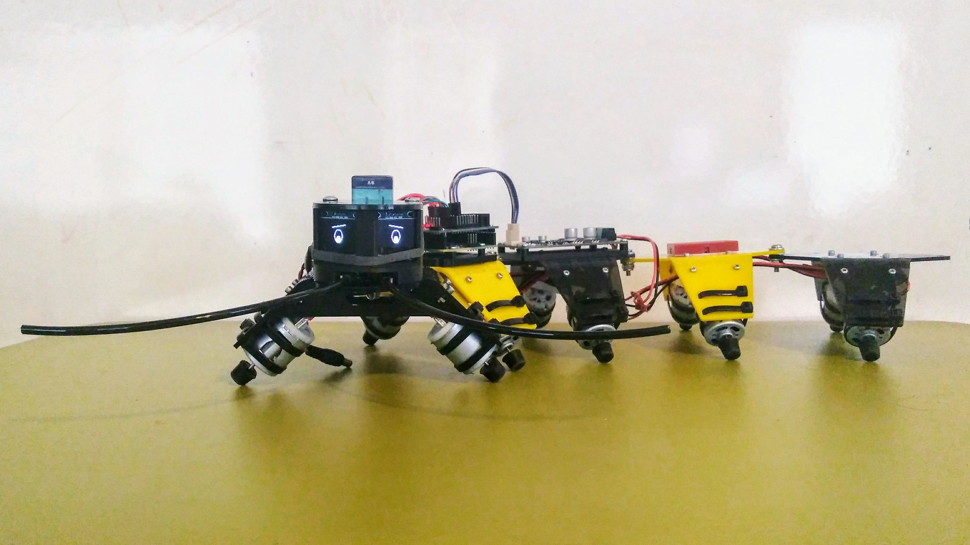 The Make-A-Pede is a open source robotics platform  It is based on a