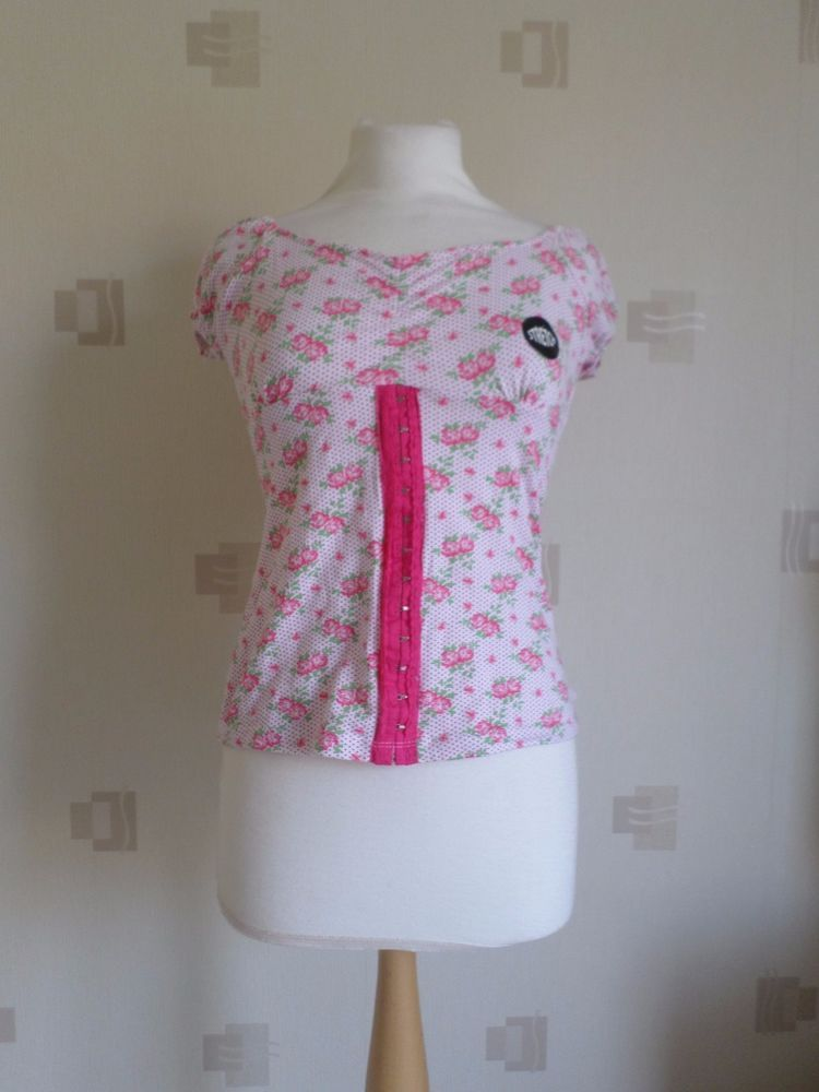 LADIES PEACOCKS COTTON TOP (SIZE 12) FLORAL, BNWT #PEACOCOKS #Casual