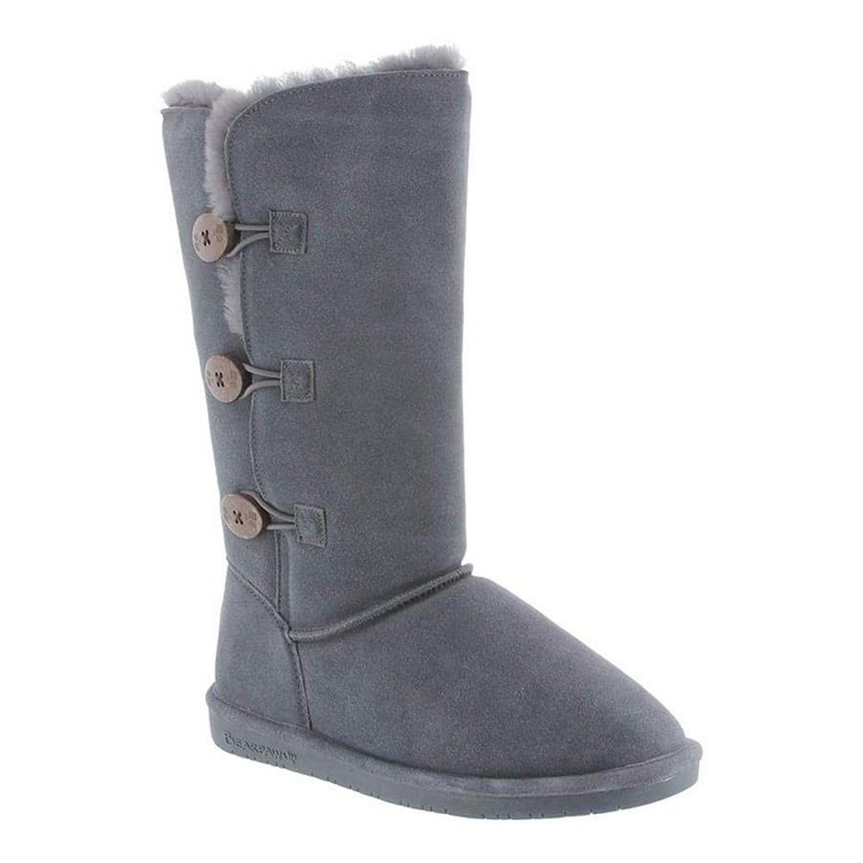 Womens Luna Fashion Boot, Black, 6 M US Bearpaw