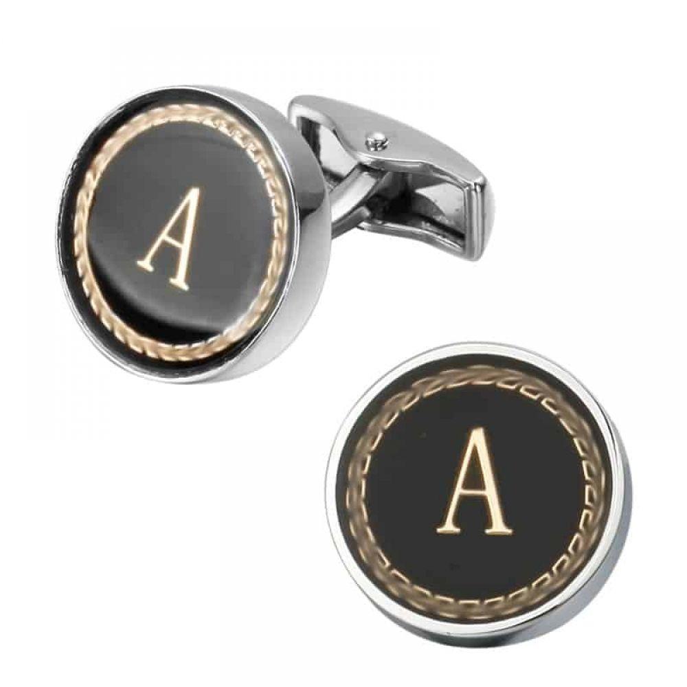 geometric cufflinks sterling silver Square circles