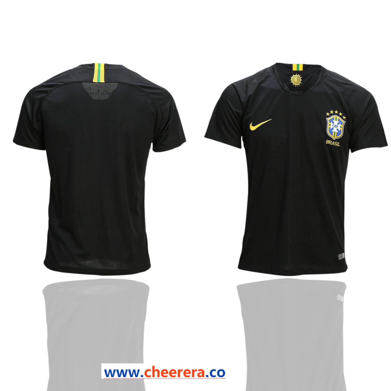 be09ccfe973 Brazil Black Goalkeeper 2018 FIFA World Cup Thailand Soccer Jersey ...