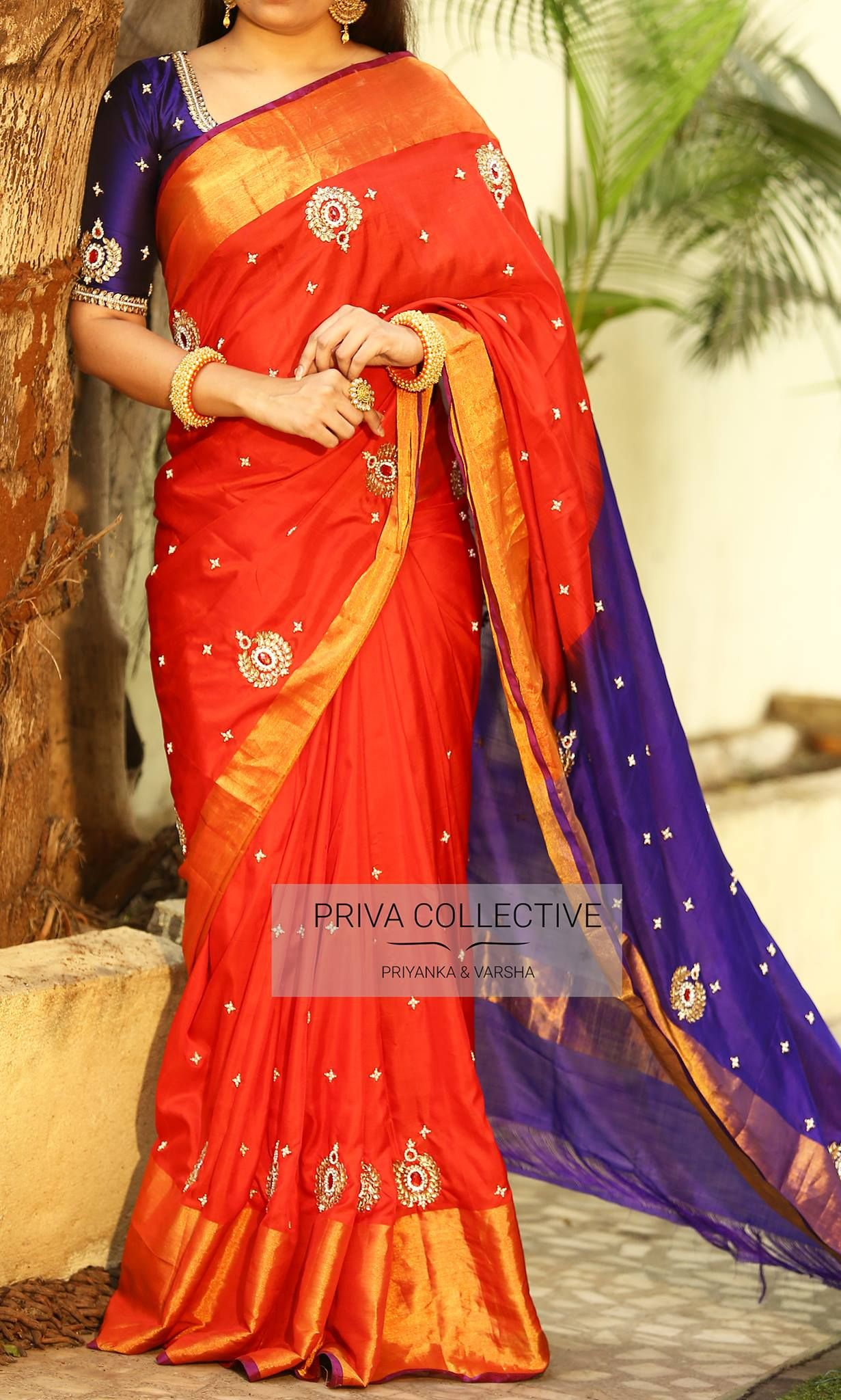 Uppada silk saree pv   red uppadaprice  rs ucbrue spell elegance in this