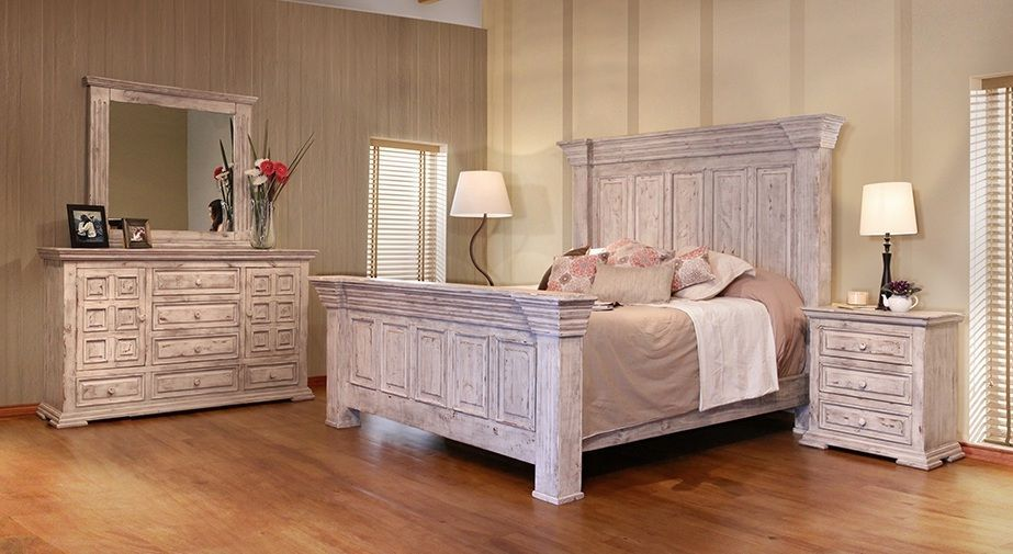 terra white 4 piece king bedroom group