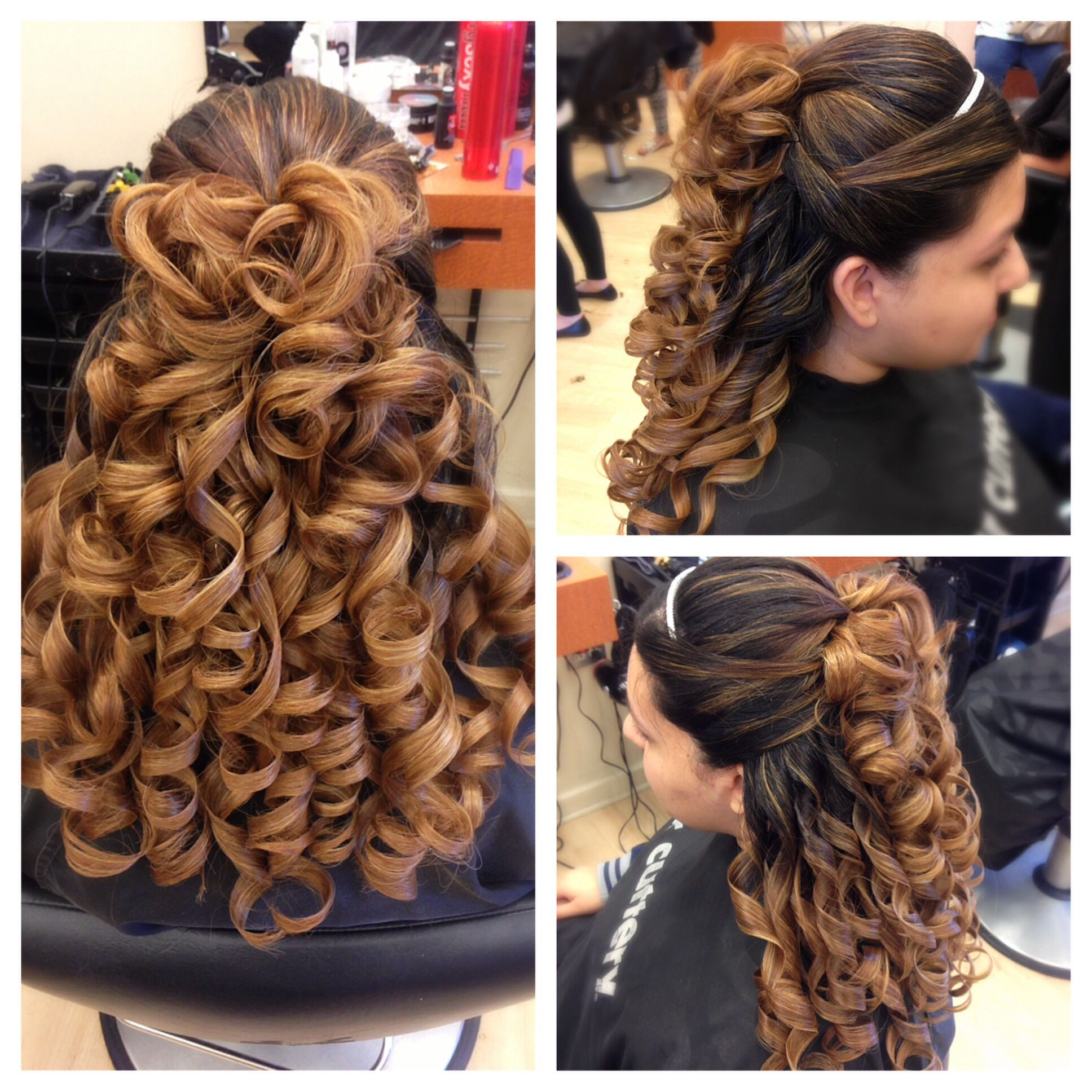 Prom Updo I Did Long Super Thick Hair Thick Hair Styles Beautiful Hair Quinceanera Hairstyles