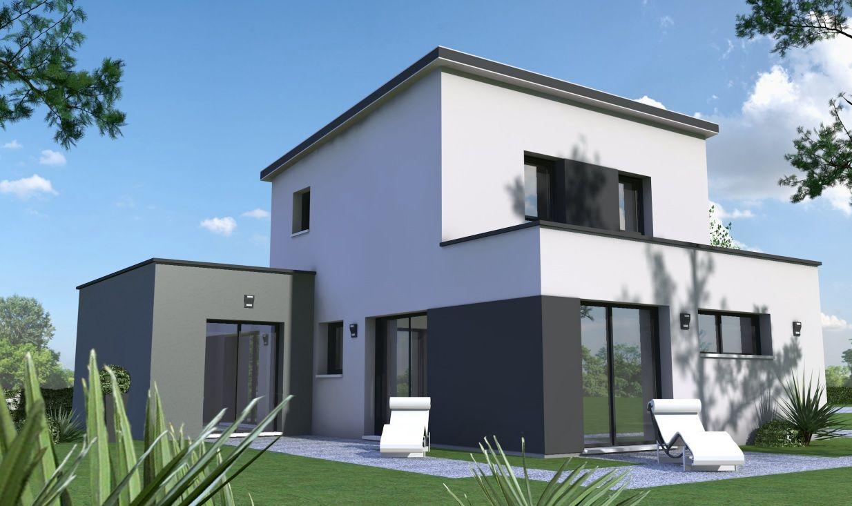 Nouveau Projet Maison Moderne A Etage De 112m Piece De Vie Spacieuse De 48m 3 Chambres Don En 2020 Constructeur Maison Moderne Constructeur Maison Maison