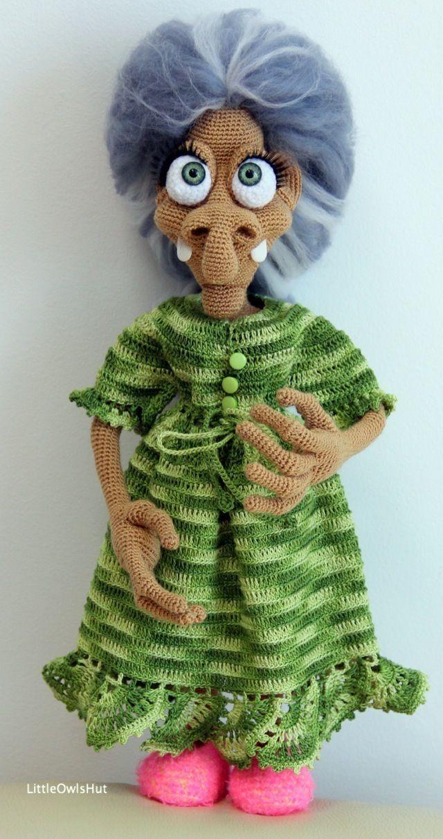081 Charming witch Amigurumi pattern by LittleOwlsHut | Pinterest ...
