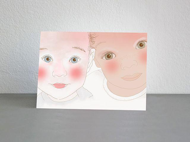 Ilustración niños de diferentes nacionalidades para charla osteopatía infantil.
