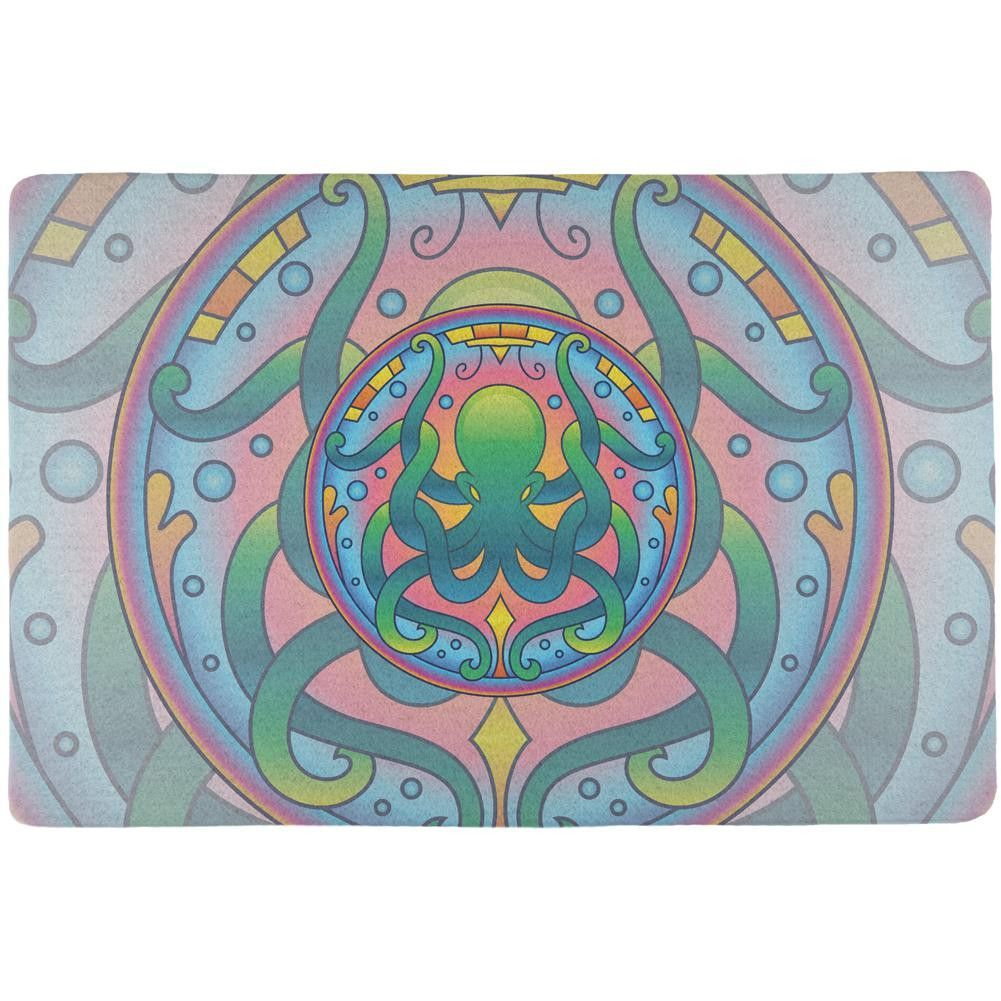 Mandala Trippy Stained Glass Octopus All Over Placemat