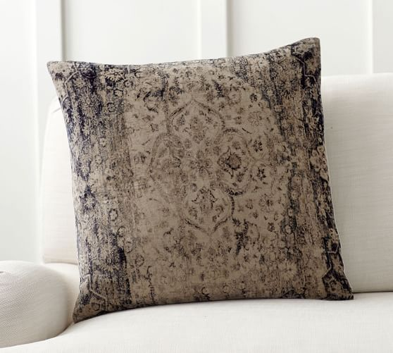 Pottery Barn Pillow Inserts Magnificent Sami Printed Velvet Pillow Cover Pottery Barn Living Room