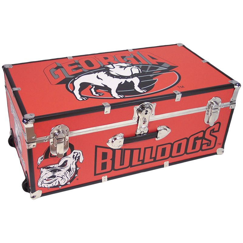 Georgia Bulldogs Colored Storage Trunk With Images Georgia