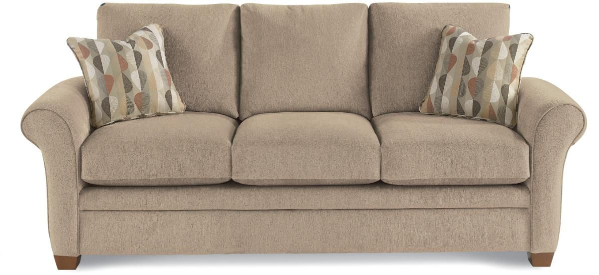 Natalie Transitional Sofa with Sock Arms by La-Z-Boy | Wolf Furniture