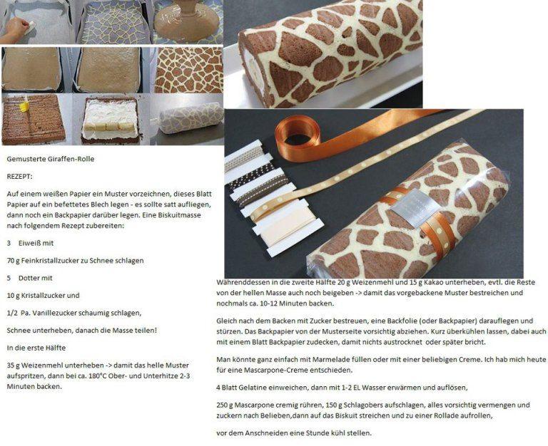 Giraffen Rolle Bilder Schneiden Giraffenkuchen Und Giraffen Kuchen