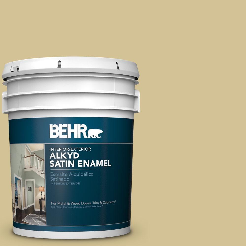 Behr 5 Gal M310 4 Almondine Urethane Alkyd Satin Enamel Interior Exterior Paint 793005 In 2019 Exterior Paint Interior Paint Behr