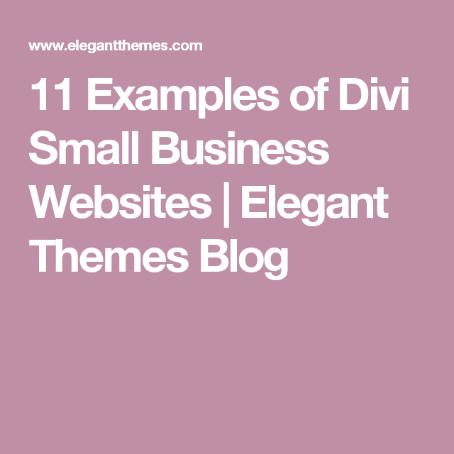 11 examples of divi small business websites - Divi section divider styles ...