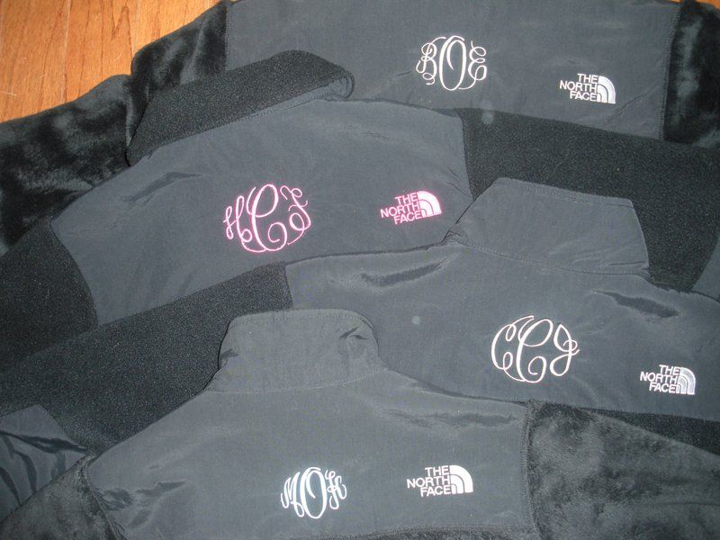 monogrammed North Face... love this idea, and definitely doing it with my next one!