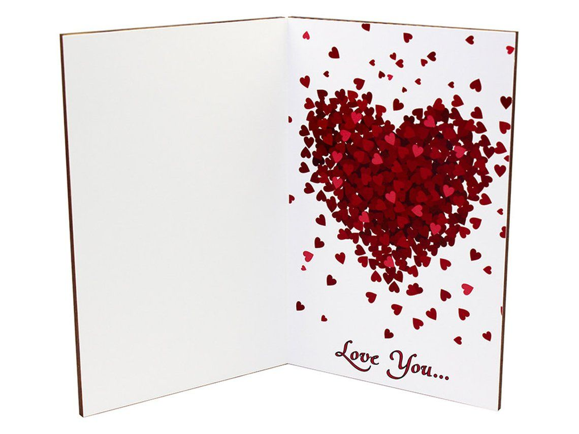 love cards wood anniversary card valentine day gift 5