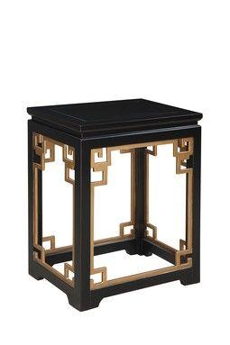 Greek Key End Table Black Home Furniture Furniture Side Tables