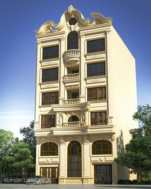 Exterior Design_Neoclassic Architecture.Designed by Mohsen Laei.in sokna-tarh.com mohsenlaei@gmail.com